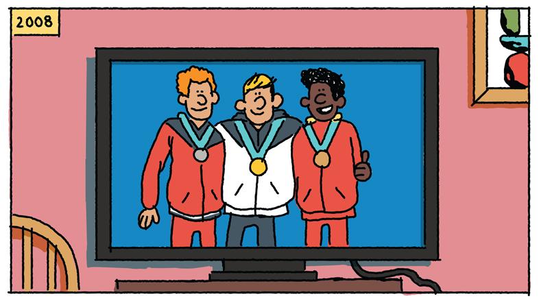 nike耐克为了一件夹克画了一组漫画,故事是这样的..