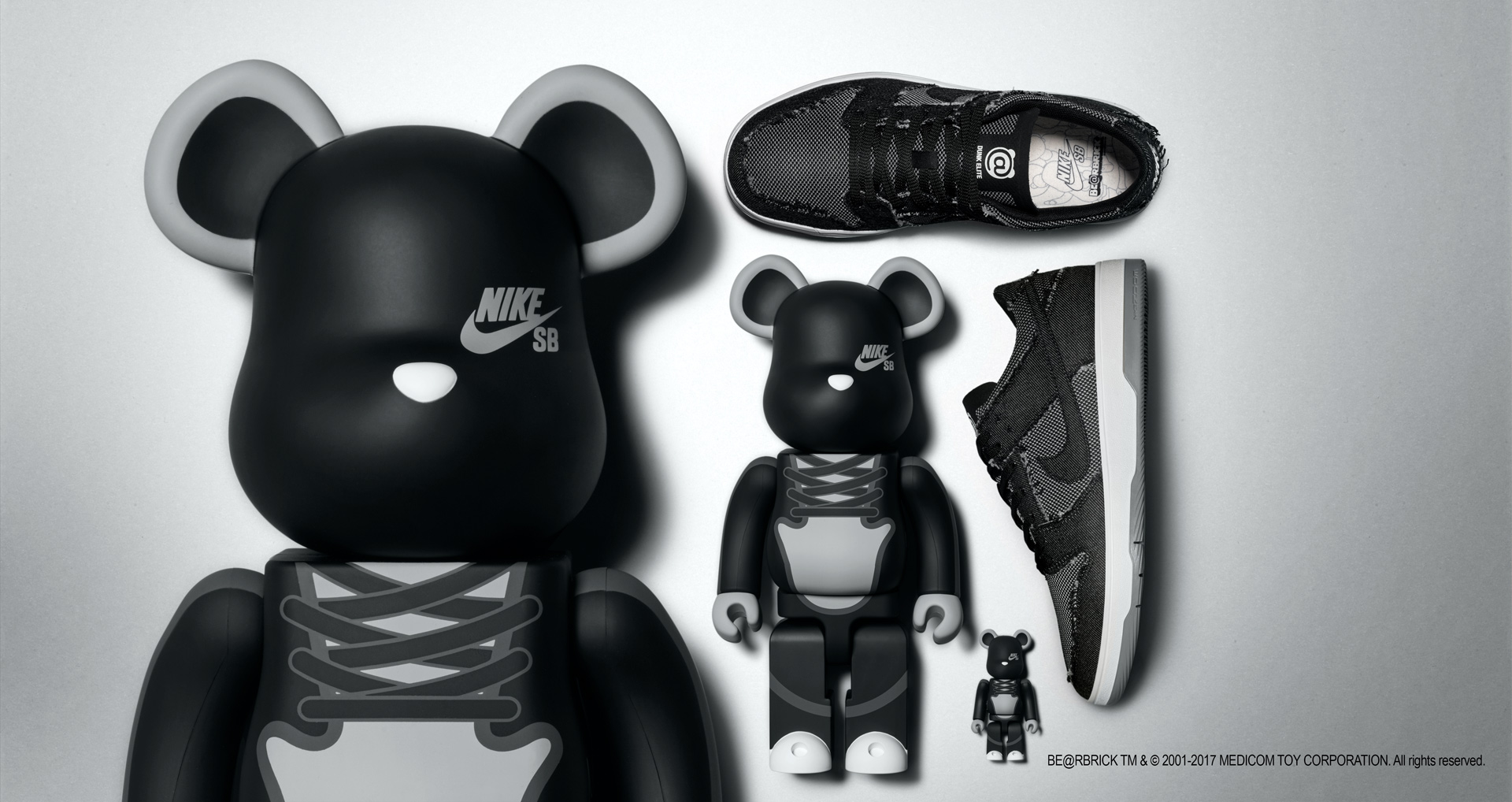 历经15年积淀的合作:NIKE SB DUNK LOW ELITE 'BE@RBRICK'