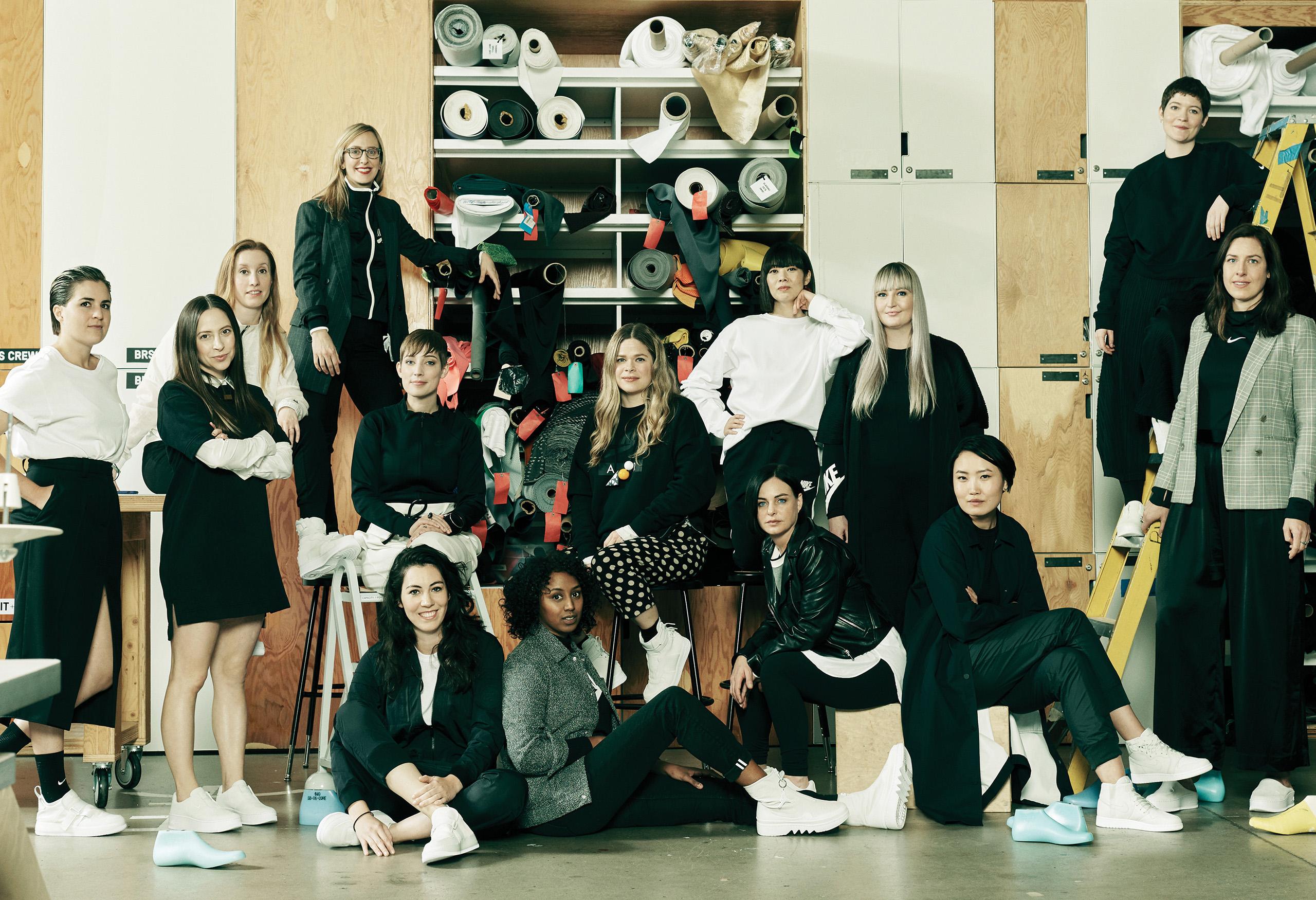 企划背后的14位女性代表著nike千人设计师团队所具备的独特创作能力.图片